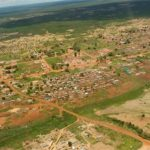 Aerial view of Moxico Angola, site of fistula education and outreach efforts
